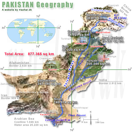 The Map of Pakistan