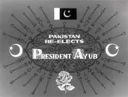 General Ayun Khan Re-Elected in Presidental Election in 1965