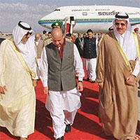 Nawaz Sharif in exile in Saudi Arabia